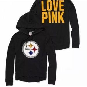 VS Pink Steelers sequin hoodie large